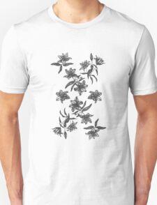 black flowers T-Shirt