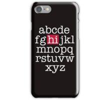 The Alphabet iPhone Case/Skin