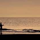 Fishing in Solitude by Mike Oliver