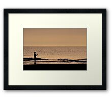 Fishing in Solitude Framed Print