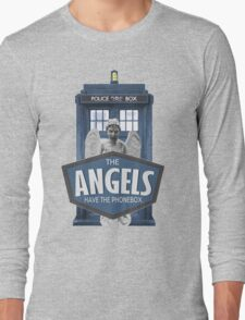 Inspired by The Doctor - Weeping Angels - The Angels Have the Phonebox - Don't Blink Long Sleeve T-Shirt