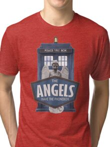 Inspired by The Doctor - Weeping Angels - The Angels Have the Phonebox - Don't Blink Tri-blend T-Shirt