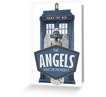 Inspired by The Doctor - Weeping Angels - The Angels Have the Phonebox - Don't Blink Greeting Card