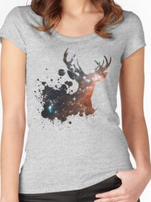 Space Stag Women's Fitted Scoop T-Shirt