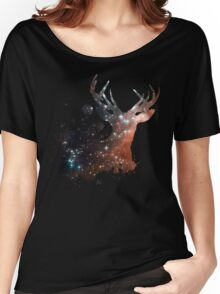 Space Stag Women's Relaxed Fit T-Shirt