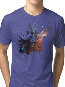 Space Stag Tri-blend T-Shirt