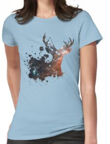 Space Stag Womens Fitted T-Shirt