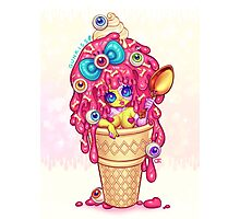 Ice-Cream Zombie Girl Photographic Print