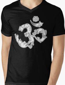 Om Meow Cat Shirt Mens V-Neck T-Shirt