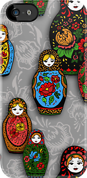 colorful matryoshka by KatyaZorin
