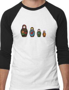colorful matryoshka Men's Baseball ¾ T-Shirt