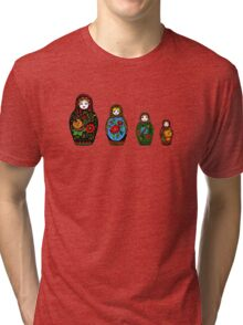 colorful matryoshka Tri-blend T-Shirt