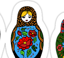 colorful matryoshka Sticker
