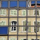 urban window reflections Marseille by aceshirt