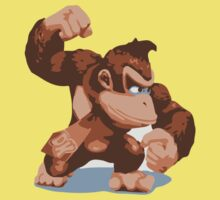 Minimalist Donkey Kong from Super Smash Bros. Brawl Baby Tee