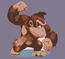 Minimalist Donkey Kong from Super Smash Bros. Brawl Kids Clothes