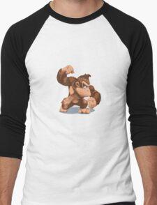 Minimalist Donkey Kong from Super Smash Bros. Brawl Men's Baseball ¾ T-Shirt