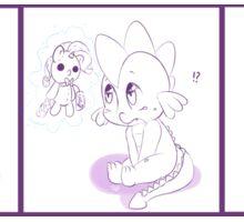 Spike's Rarity Plush Sticker