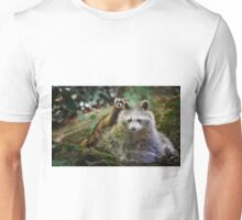 Ferret and Raccon Friends Unisex T-Shirt