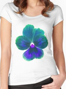 Colorful Flower Women's Fitted Scoop T-Shirt