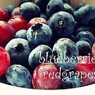 Blueberries Red grapes by irritatedbunny