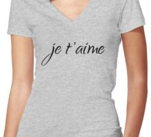 je t'aime – I love you Women's Fitted V-Neck T-Shirt