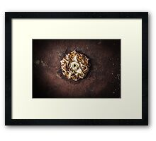 Ananas comosus on rust plate Framed Print