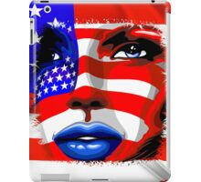 Usa Flag on Girl's Face iPad Case/Skin
