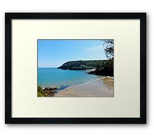 North Sands Beach, Salcombe Framed Print