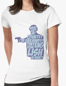 Pulp Fiction - Jules: They Speak English in What? Womens Fitted T-Shirt