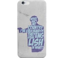 Pulp Fiction - Jules: They Speak English in What? iPhone Case/Skin