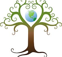 Earth tree sticker by Mhea