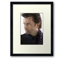 David Tennant Kilgrave Low Poly Framed Print