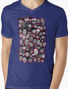 old school hip hop legends collage art Mens V-Neck T-Shirt