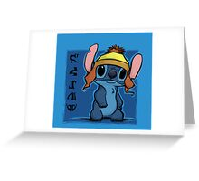 Cunning and Blue! Greeting Card
