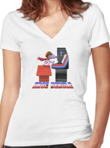IRON BEAGLE - ARMADA Women's Fitted V-Neck T-Shirt