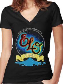 E.L.O. TIME TOUR 1981 Women's Fitted V-Neck T-Shirt
