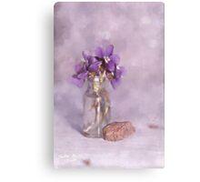 Purple Violets Still Life Canvas Print