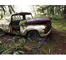 """""""Rust In Peace"""" Photographic Print"""