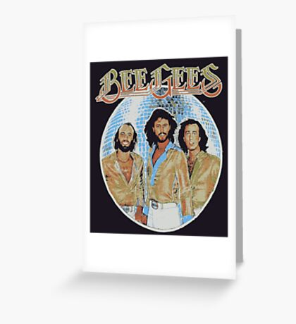 Bee Gees DISCO BALL Greeting Card