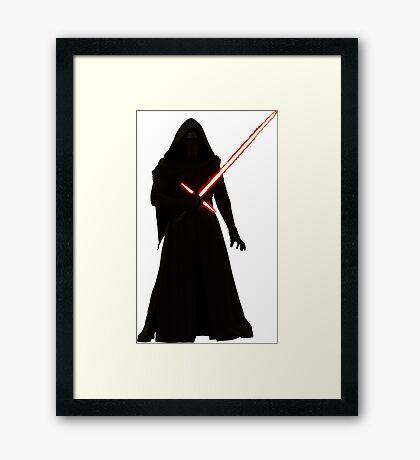 Kylo Ren Shadow Style Framed Print