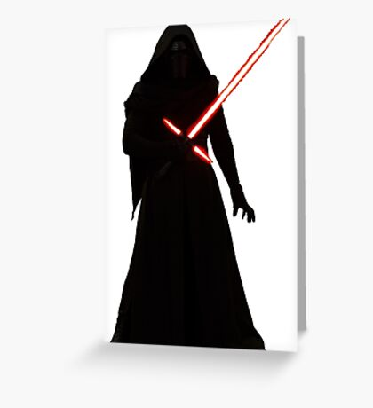 Kylo Ren Shadow Style Greeting Card
