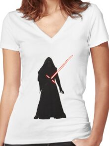 Kylo Ren Shadow Style Women's Fitted V-Neck T-Shirt