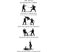 The Art of Gentlemanly Combat Photographic Print
