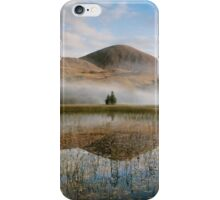 Misty Mountain Behind Reflective Lake iPhone Case/Skin