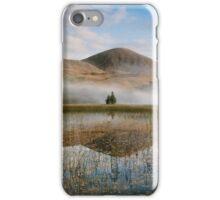 Misty Mountain Behind Reflective Lake iPhone Case/Skin