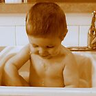 Memories...Bath Time In The Kitchen Sink by trueblvr