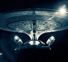 The Enterprise D - Star Trek The Next Generation. by Nick Griffin