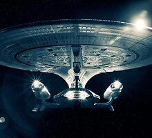 The Enterprise D - Star Trek The Next Generation. by Nick Griffin