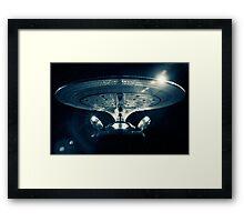 The Enterprise D - Star Trek The Next Generation. Framed Print